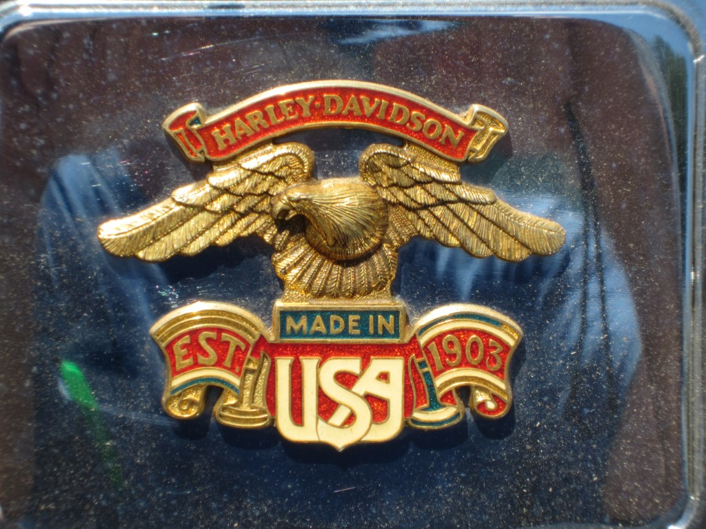 One of my favorite Harley Davidson emblems. And it's been around since before I started wrenchin on them back in '84. Long may  the Eagle fly!!