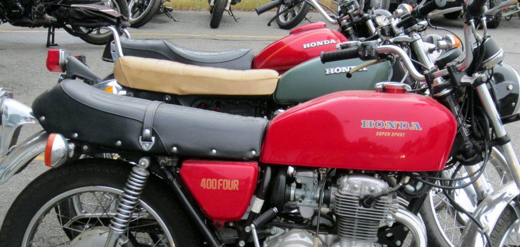 Three Honda emblems, each unique while maintaining the familiar.